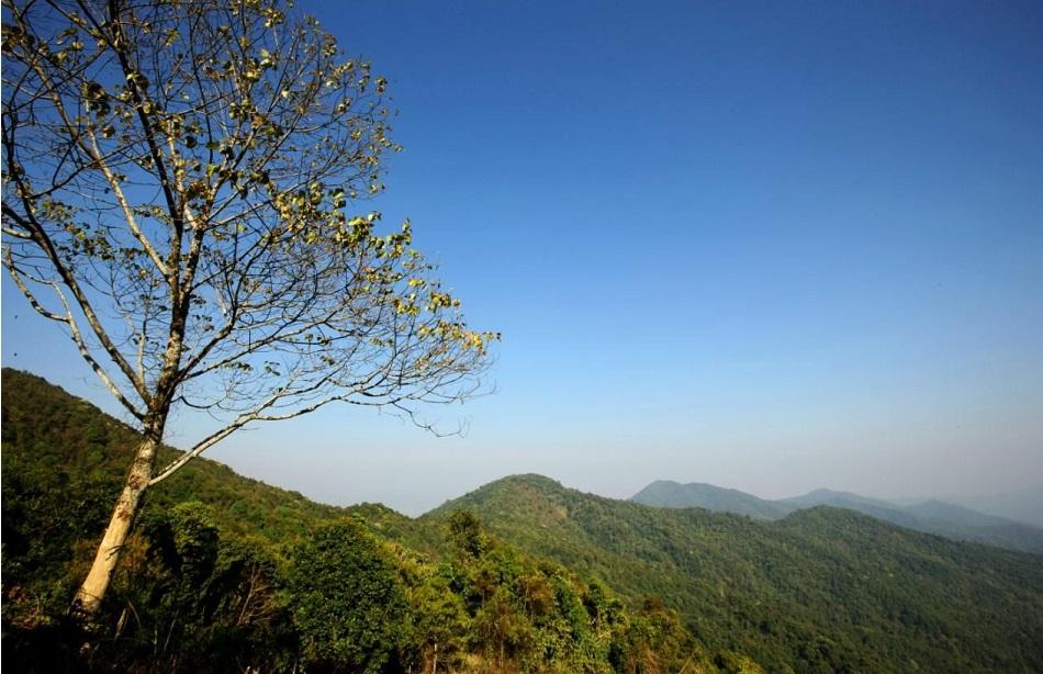 Горная местность уезда Менхай